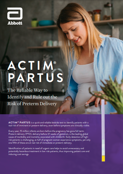 Learn more about the Actim Partus Test